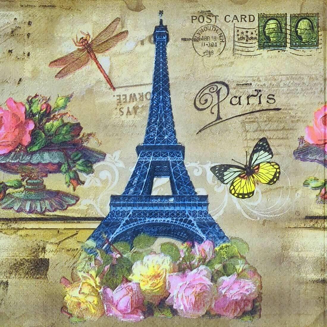 Decoupage Paper Napkins - Eiffel Tower (1 Sheet)