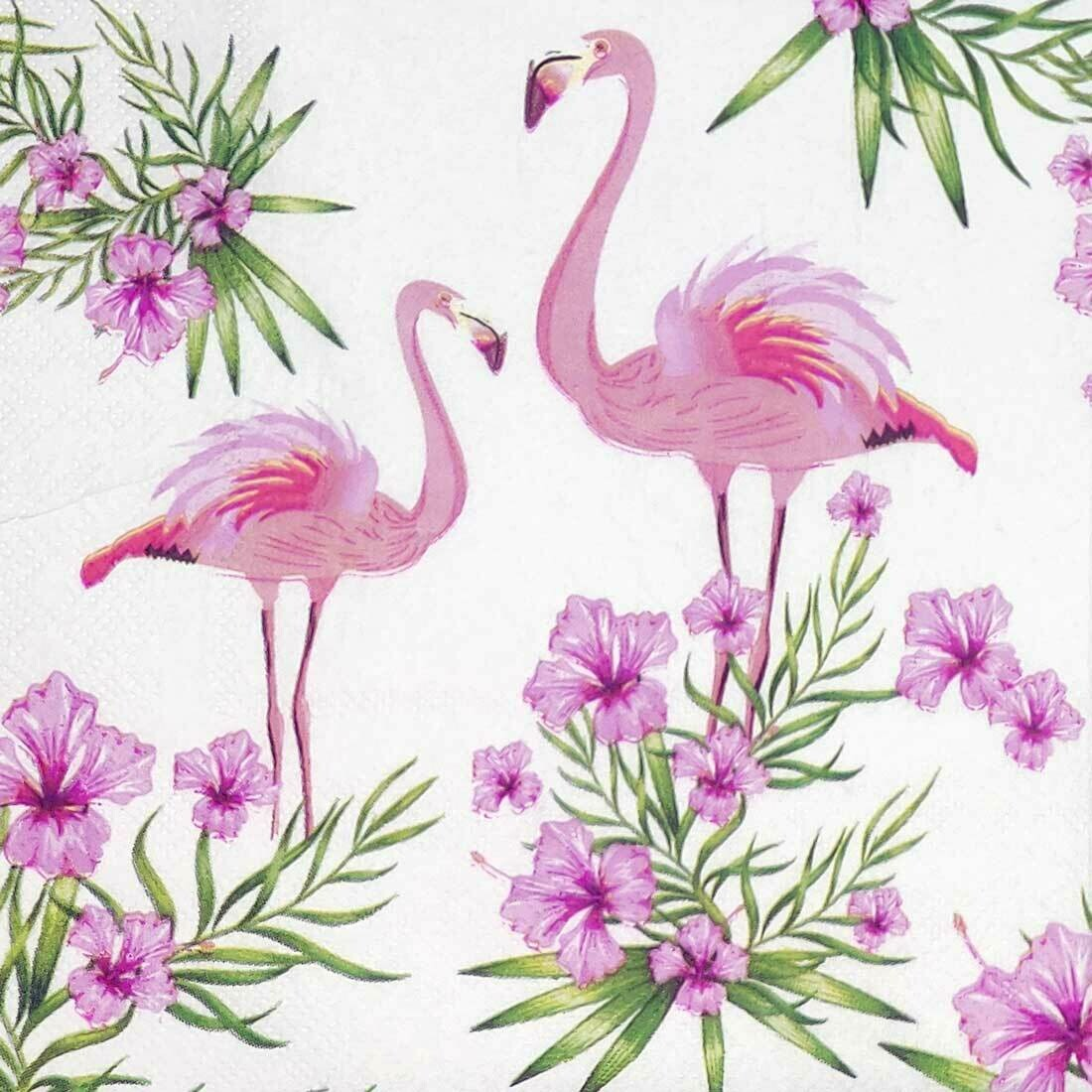 Decoupage Paper Napkins - Flamingo (1 Sheet)
