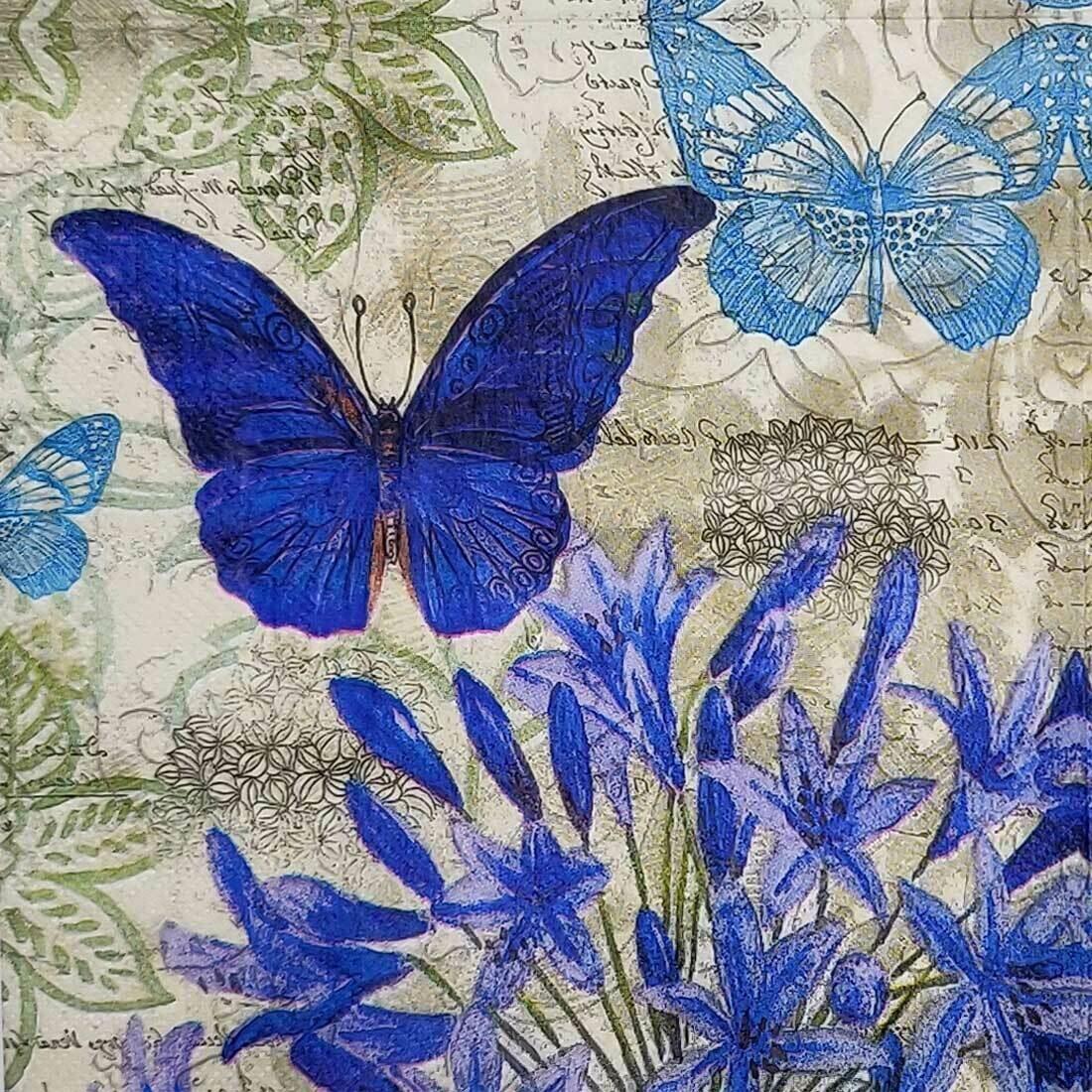Decoupage Paper Napkins - Butterflies (1 Sheet)