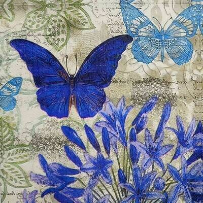 Decoupage Paper Napkins - Butterflies (1 Sheet)