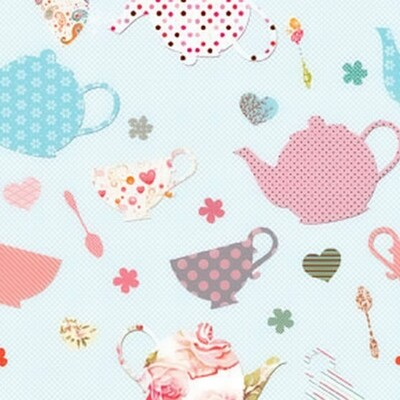 Decoupage Paper Napkins - Cute Cups - 13x13 (1 Sheet)