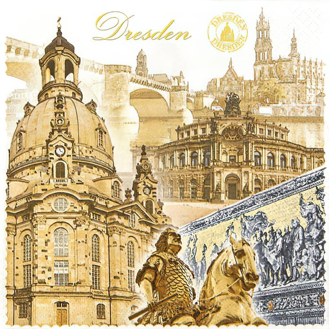 Decoupage Paper Napkins - Dresden - 13x13 (1 Sheet)