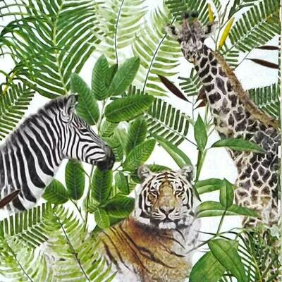 Decoupage Paper Napkins - Animals - Safari - 13x13 - (1 Sheet)