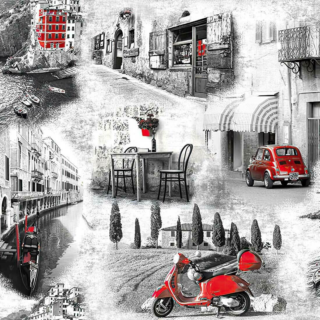 Decoupage Paper Napkins - Italian Streets - 13x13 (1 Sheet)