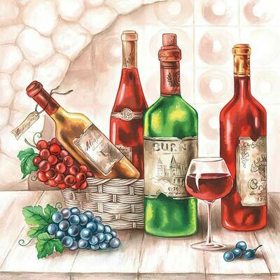 Decoupage Paper Napkins - Wine Cella 13x13 (1 Sheet)