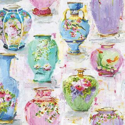 Decoupage Paper Napkins - Vases and Flowers (1 Sheet)