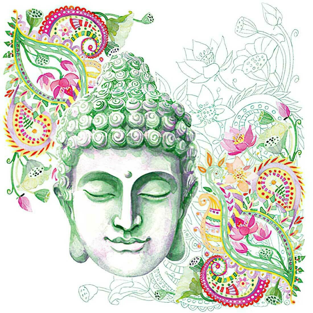 Decoupage Paper Napkins - Buddha Green 13x13 (1 Sheet)