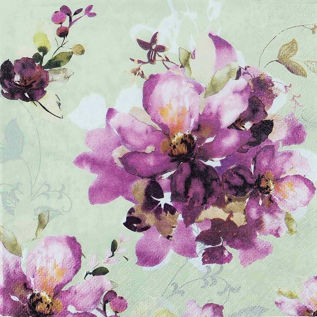 Decoupage Paper Napkins - Floral Ophelia 13x13 (1 Sheet)