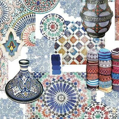 Decoupage Paper Napkins - Medina Blue (1 Sheet)