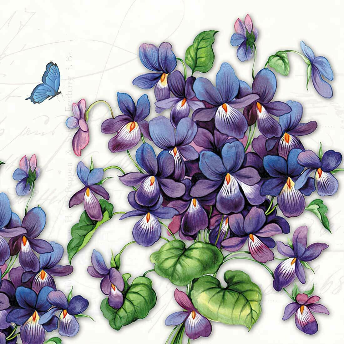 Decoupage Paper Napkins - Viola Violet (1 Sheet)