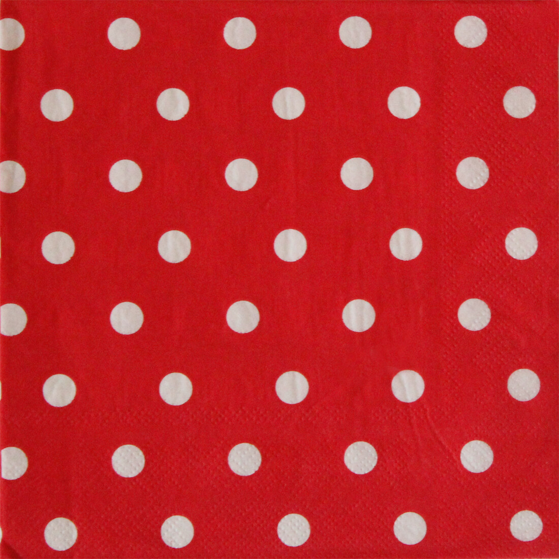 Polka Dot Paper Napkin Red- (Pack of 20)