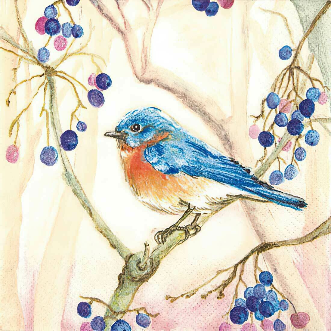 Decoupage Paper Napkins - Bird Peter in the Tree (1 Sheet)