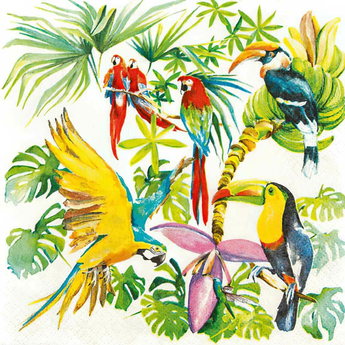 Decoupage Paper Napkins - Birds of Paradise (1 Sheet)