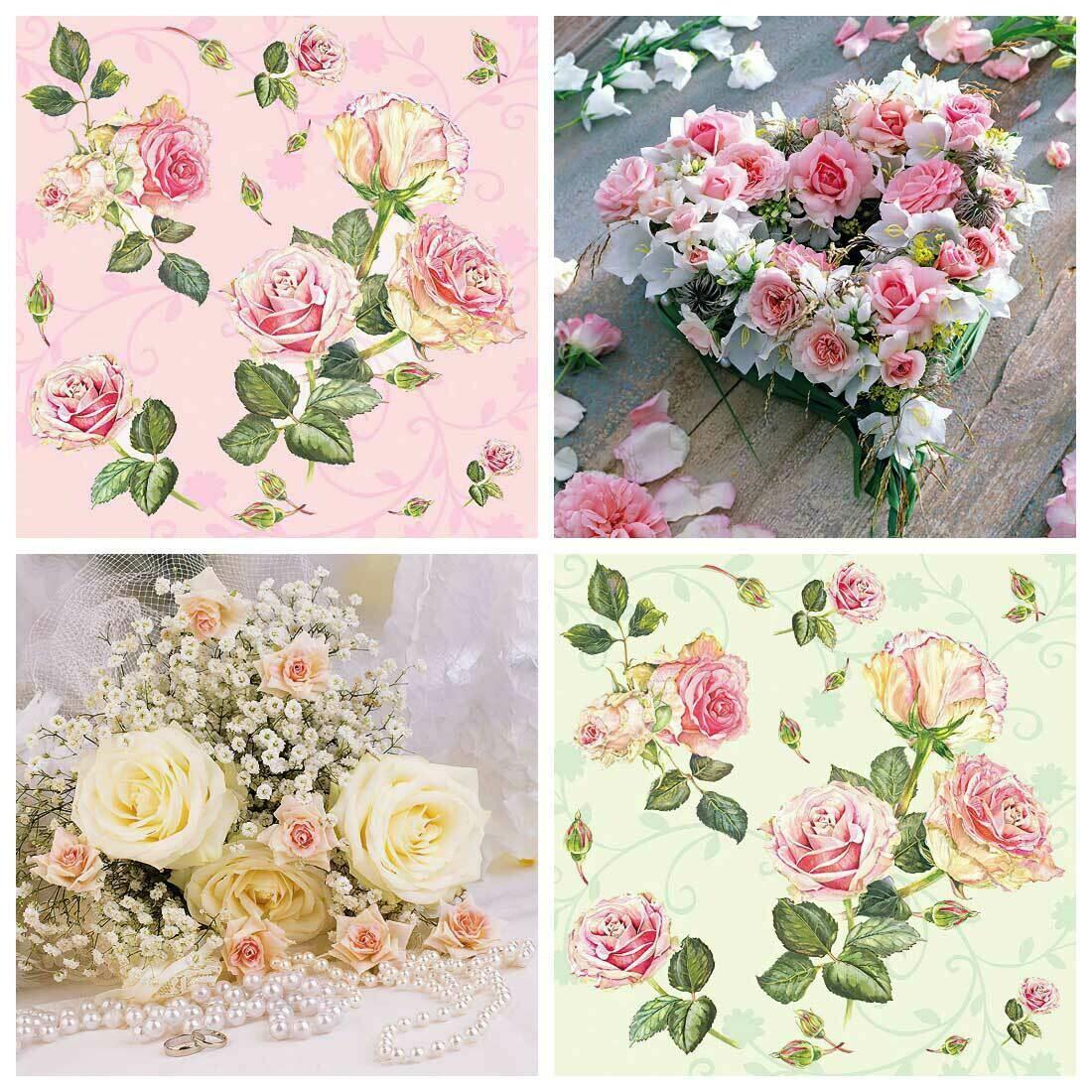Decoupage Paper Napkins - Floral 18 13x13 (4 Sheets)