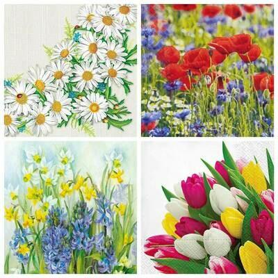 Decoupage Paper Napkins - Floral 19 13x13 (4 Sheets)