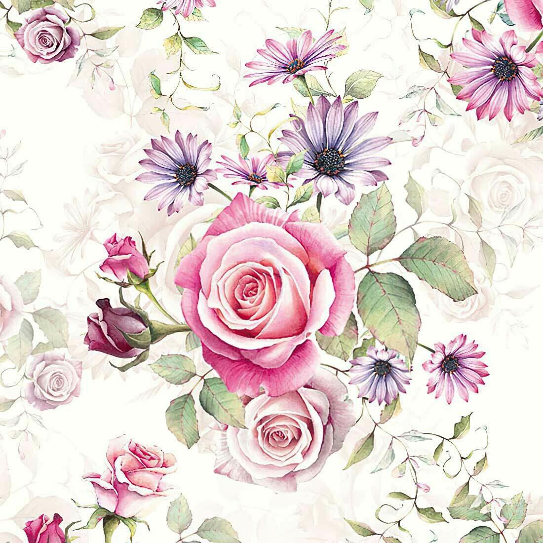 Decoupage Paper Napkins - Floral - Madeline Rose (1 Sheet)