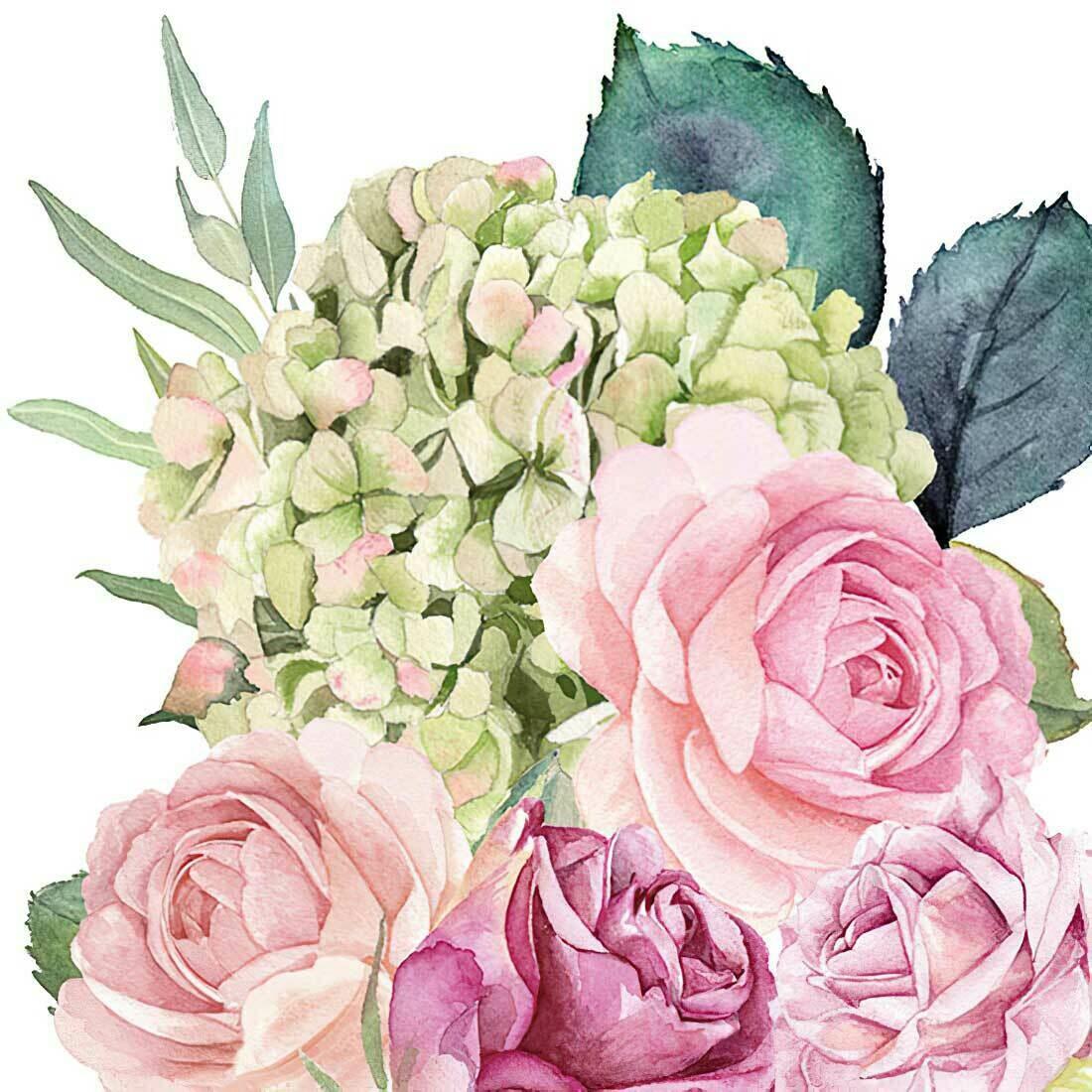 Decoupage Paper Napkins - Floral - Rose Garden (1 Sheet)
