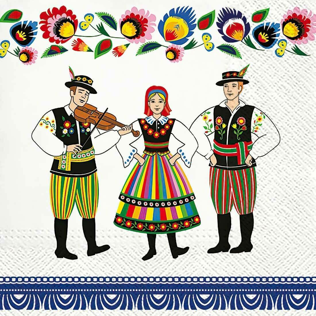 Decoupage Paper Napkins - Folk Celebration (1 Sheet)