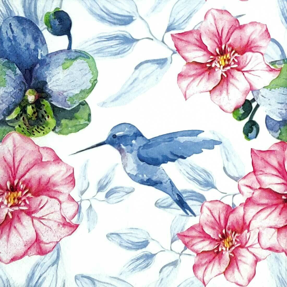 Decoupage Paper Napkins - Bird - Humming Bird (1 Sheet)