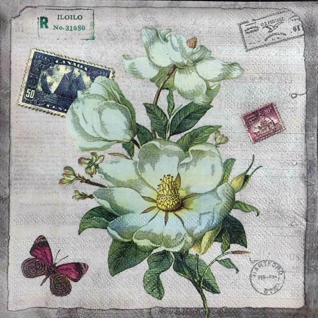 Decoupage Paper Napkins - Floral - Hartford (1 Sheet)