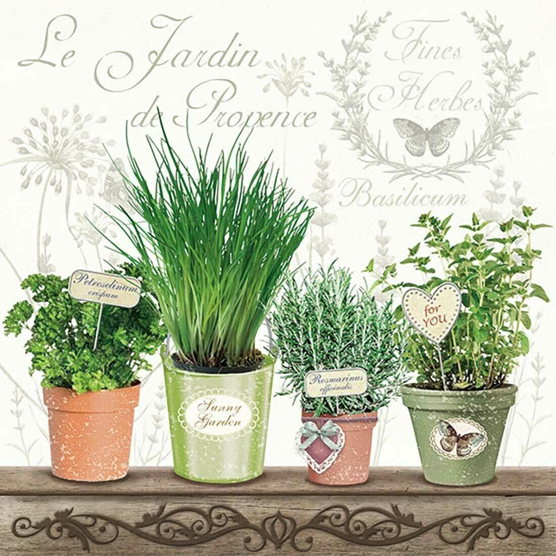 Decoupage Paper Napkins - Le-Jardin-De-Provence 13x13 (1 Sheet)