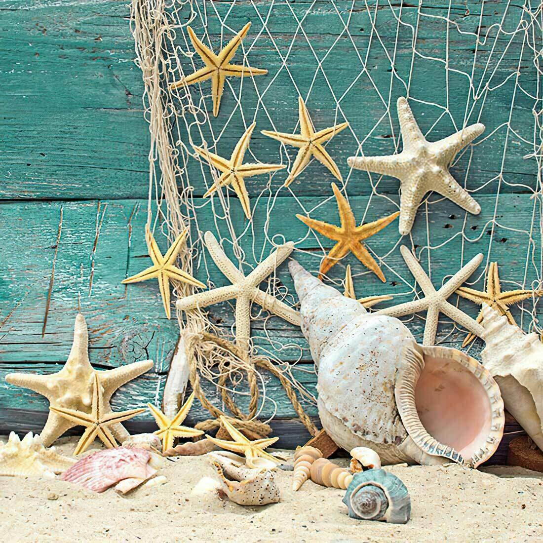 Decoupage Paper Napkins - Marine - Starfish 13x13 (1 Sheet)