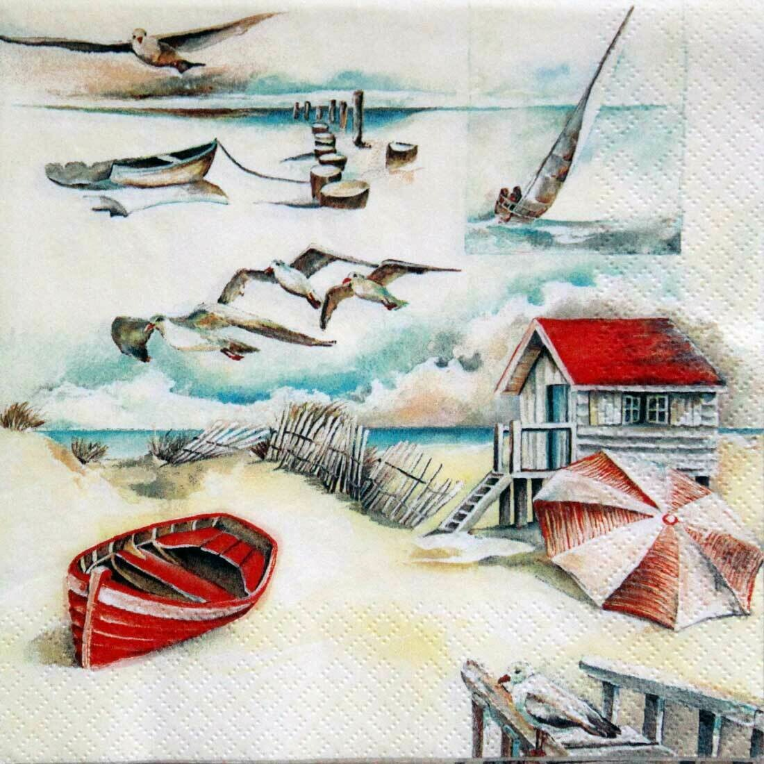Decoupage Paper Napkins - Sea Breeze 13x13 (1 Sheet)
