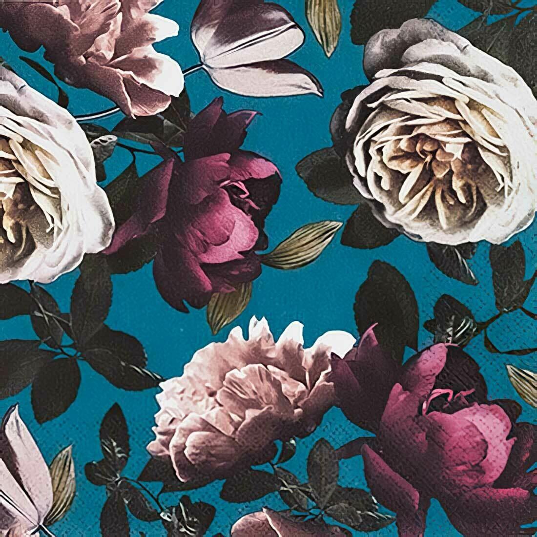 Decoupage Paper Napkins - Floral - Nobility (1 Sheet)