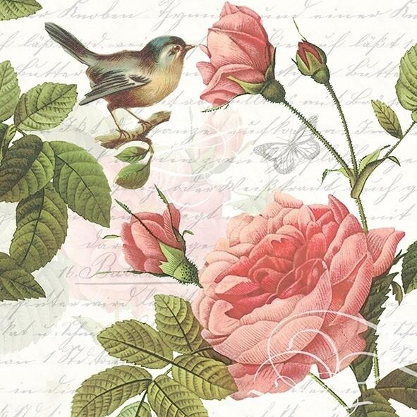 Decoupage Paper Napkins - Bird - Sophie (1 Sheet)