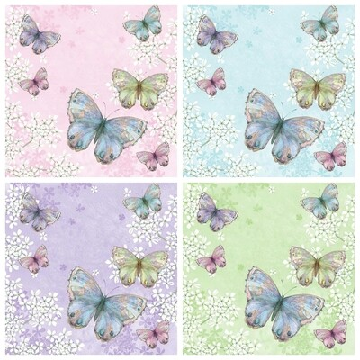 Decoupage Paper Napkins - Butterflies 8 (4 Sheets)