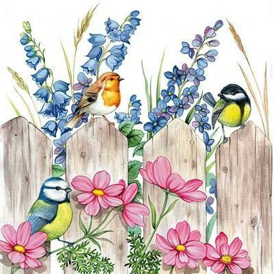 Decoupage Paper Napkins - Bird - Birds On A Fence (1 Sheet)