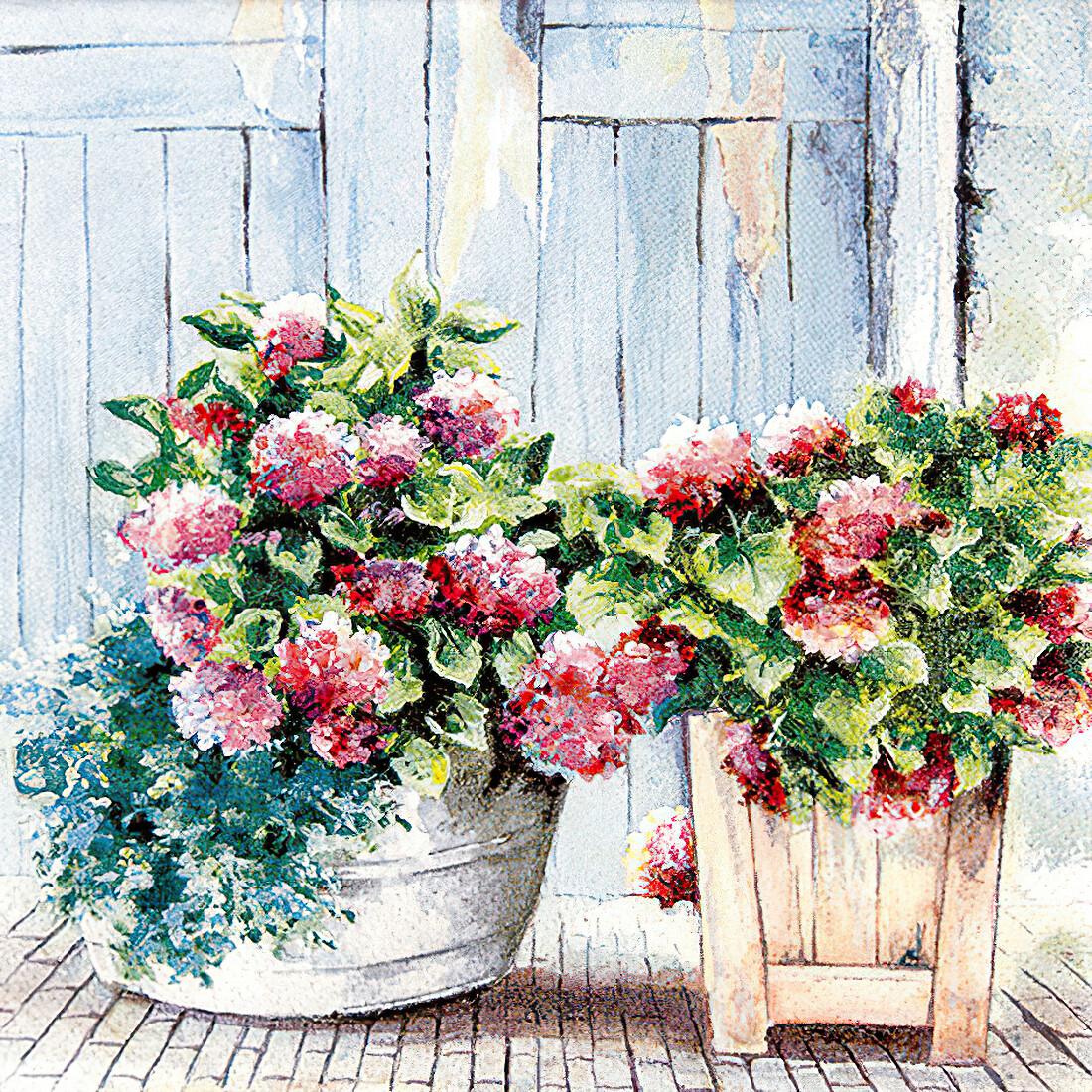 Decoupage Paper Napkins - Floral -  Cottage Hydrangea (1 Sheet)