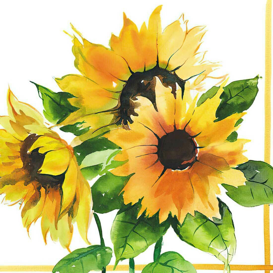 Decoupage Paper Napkins - Floral - Girasoli (Sunflower) 13x13 (1 Sheet)