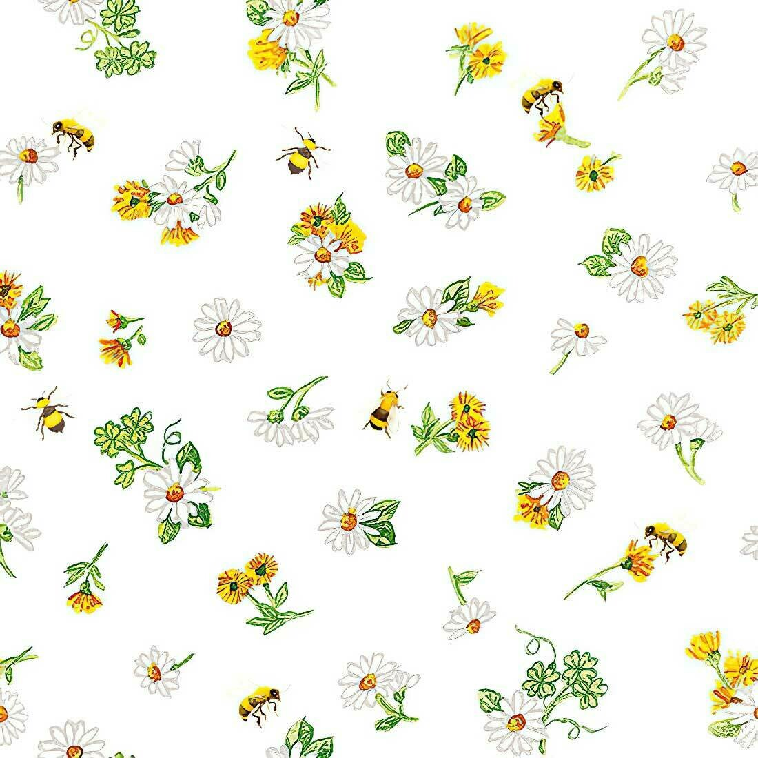 Decoupage Paper Napkins - Floral - Daisy All Over 13x13 (1 Sheet)