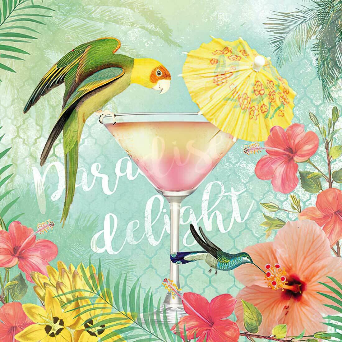 Decoupage Paper Napkins - Bird - Paradise Delight (1 Sheet)