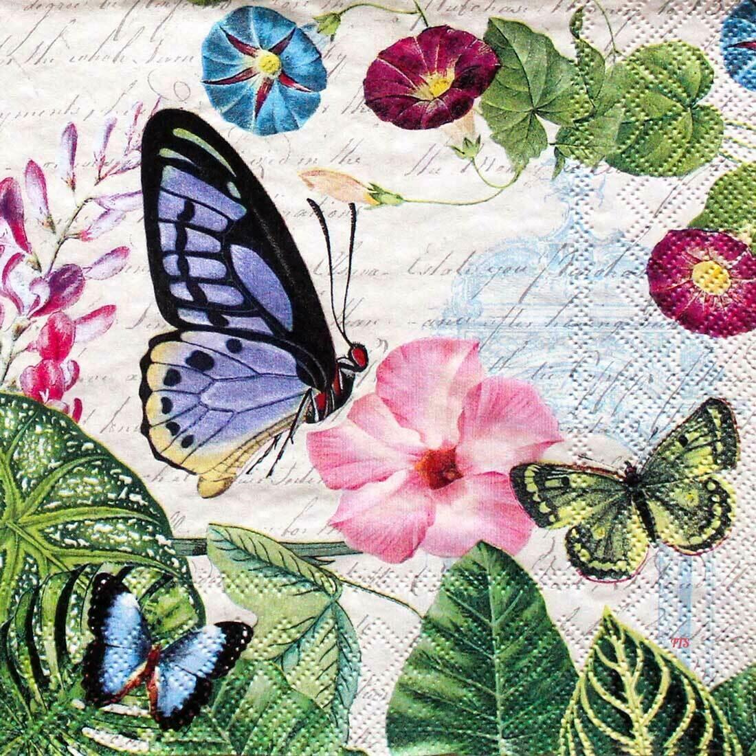 Decoupage Paper Napkins - Butterfly - Romantic Pure 13x13 (1 Sheet)