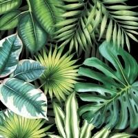 Decoupage Paper Napkins - Tropical Leaves Black (1 Sheet)