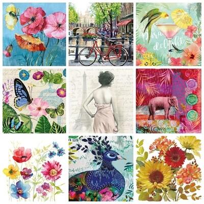 Decoupage Paper Napkins - Mixed Print 13x13 (9 Sheets)