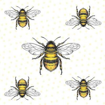 Decoupage Paper Napkins - Flying Bees (1 Sheet)