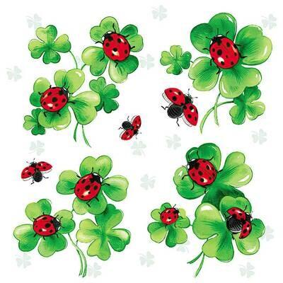 Decoupage Paper Napkins - Ladybug Lots Of Luck (1 Sheet)