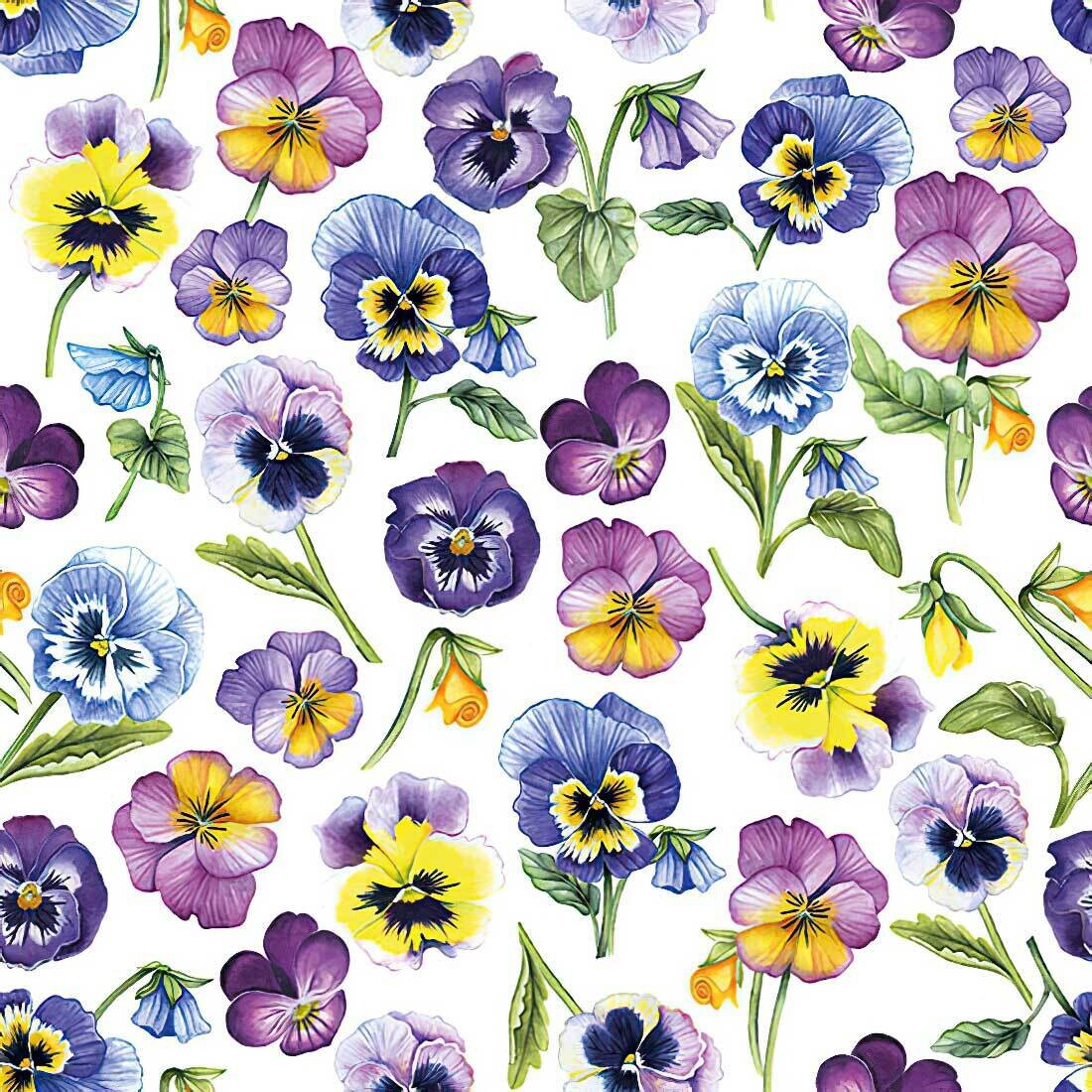 Decoupage Paper Napkins - Floral - Pansy All Over (1 Sheet)