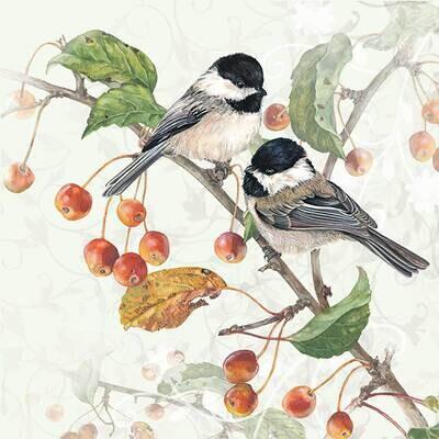 Decoupage Paper Napkins - Bird - Chickadee (1 Sheet)