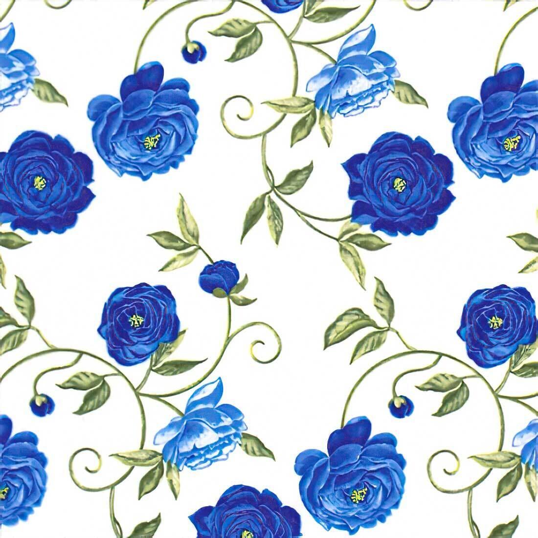 Decoupage Paper Napkins - Floral - Peony Blue (1 Sheet)