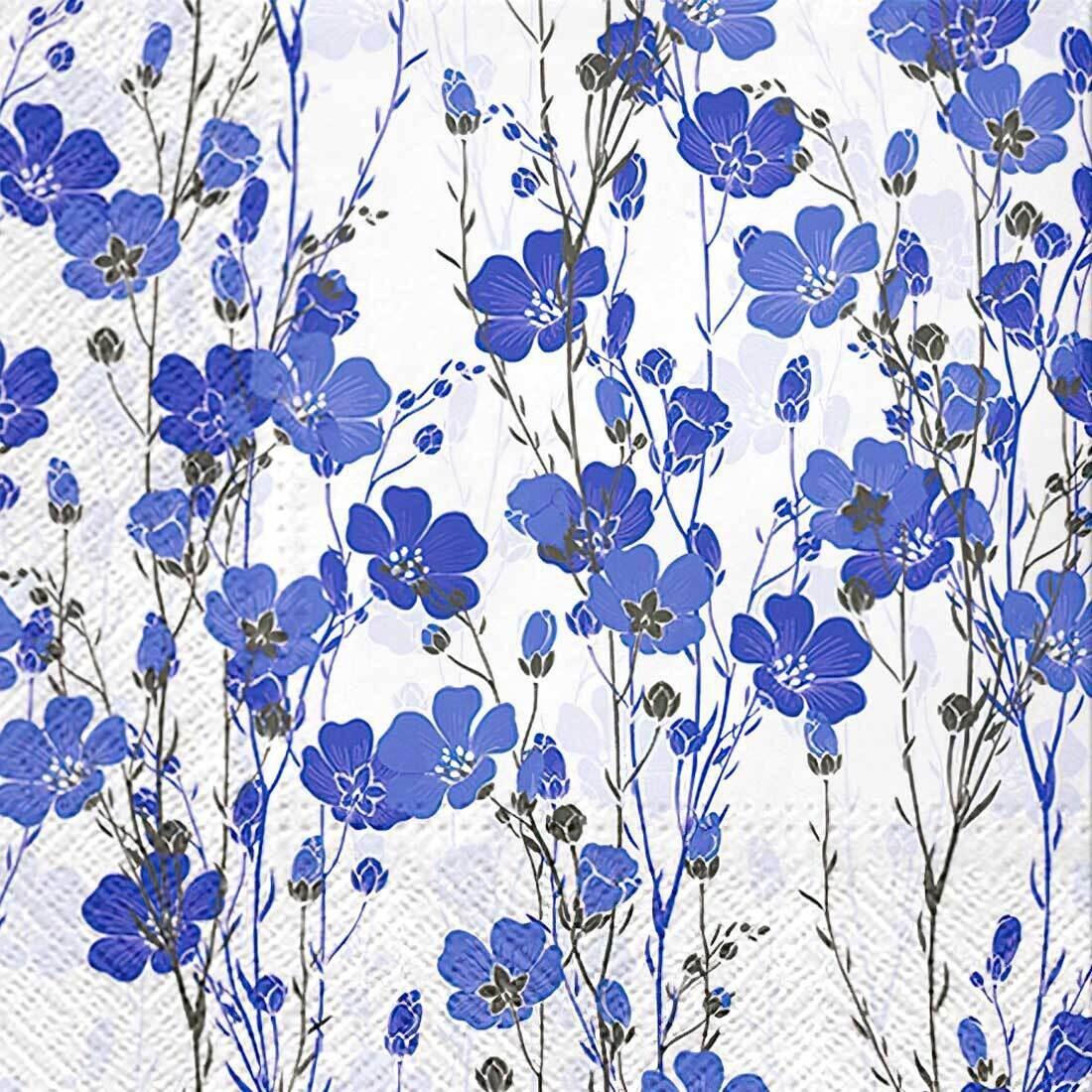 Decoupage Paper Napkins - Floral - Flax Plants (1 Sheet)