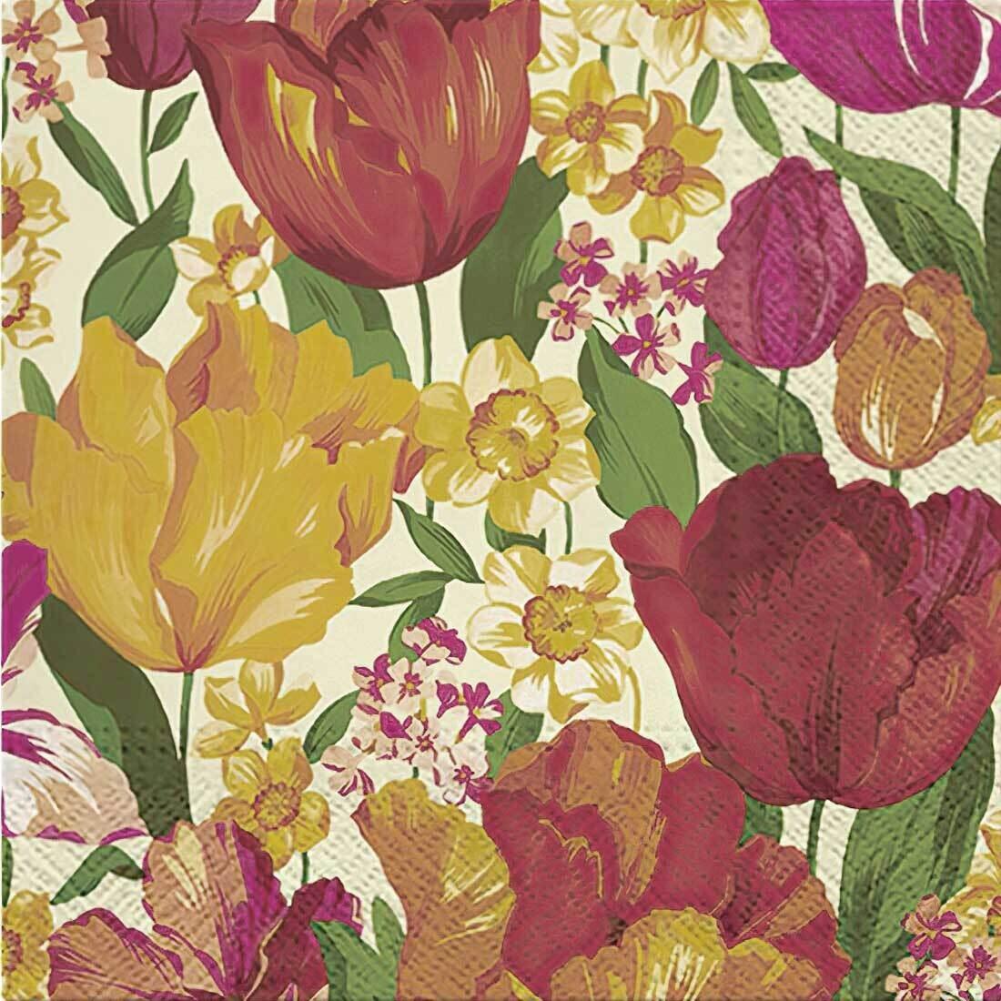Decoupage Paper Napkins - Floral - Flowering Spring (1 Sheet)