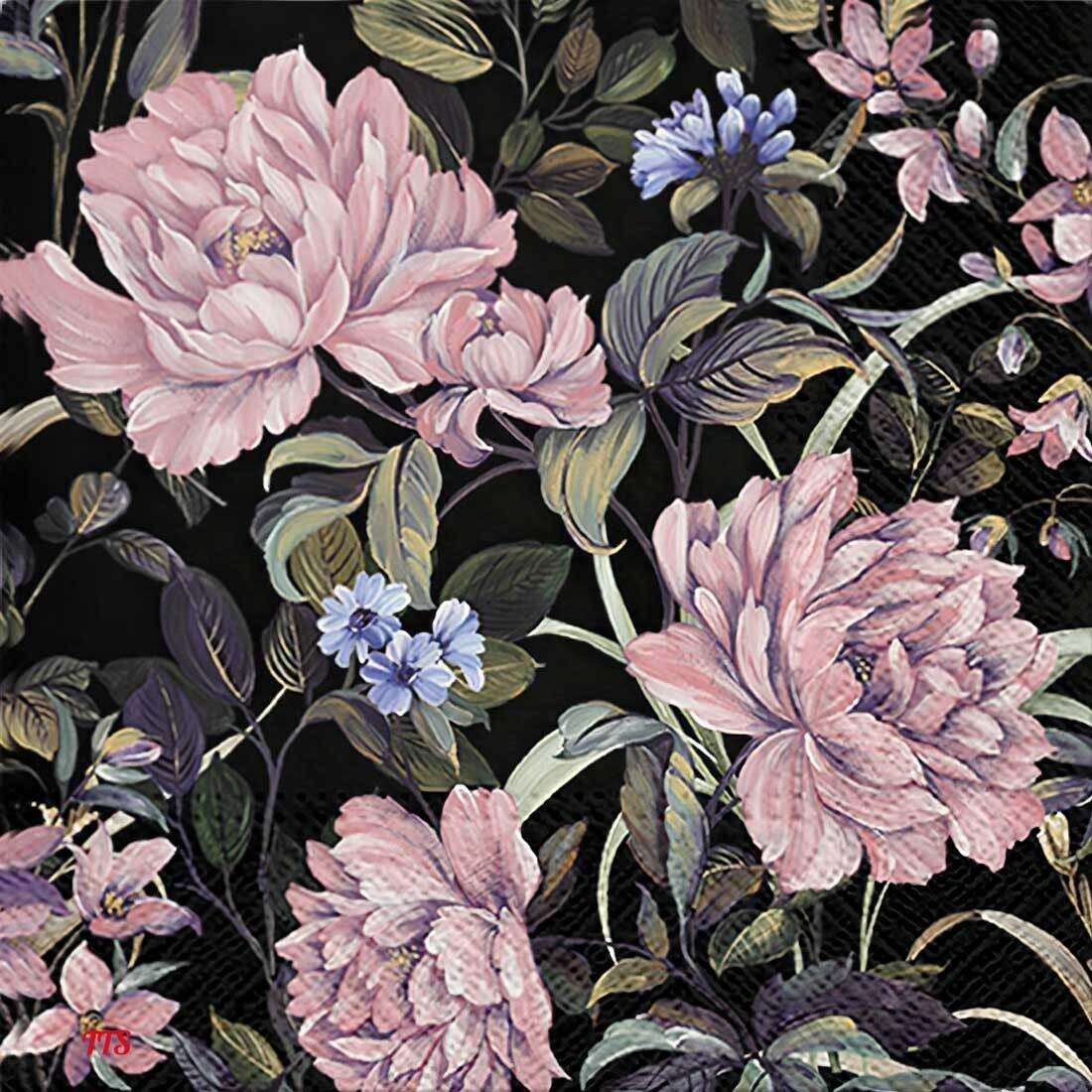 Decoupage Paper Napkins - Floral - Flowers Mystery (1 Sheet)
