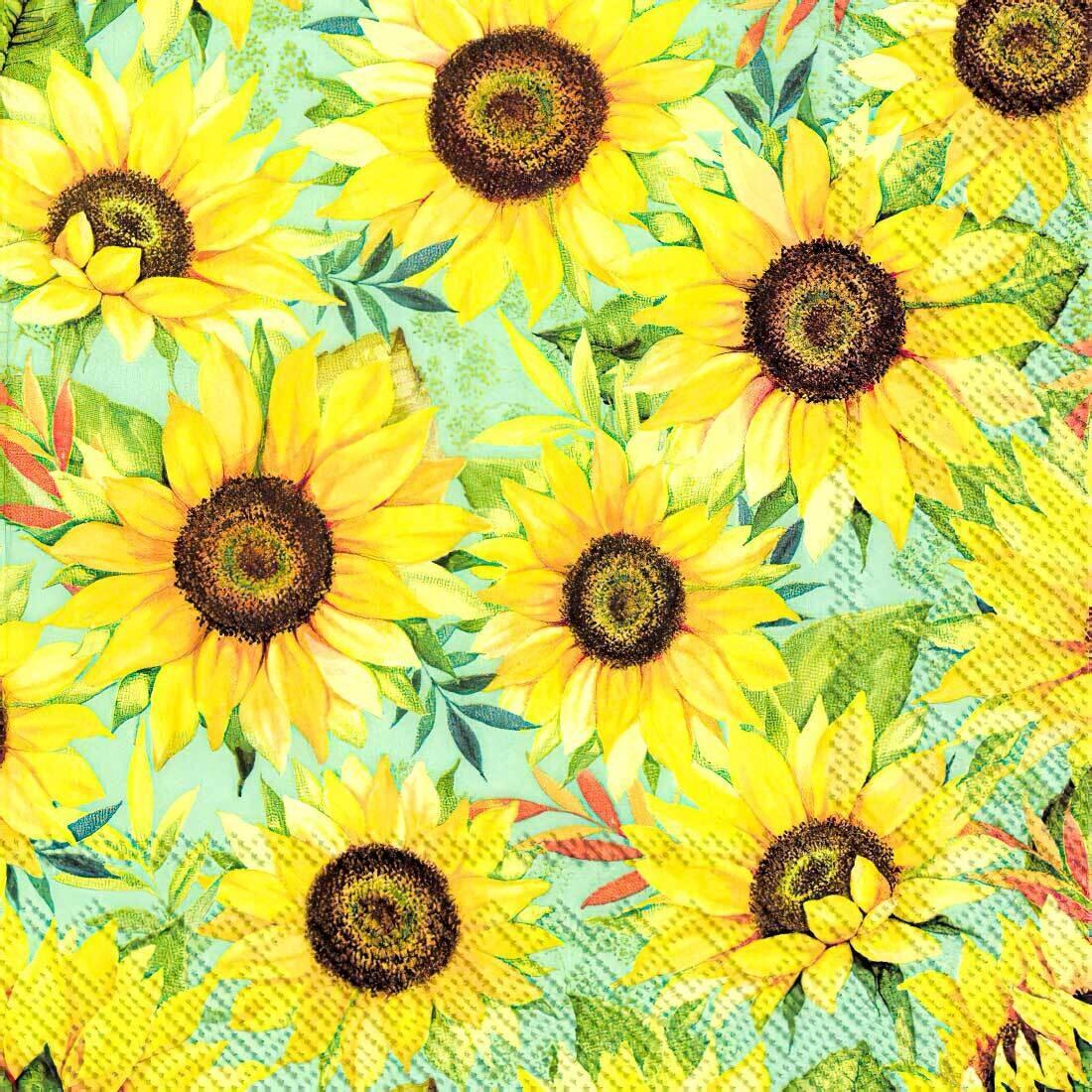 Decoupage Paper Napkins - Floral - Sunflower - Vincent (1 Sheet)