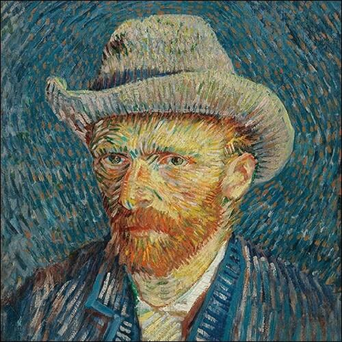 Decoupage Paper Napkins - Vintage Van Gogh self portrait-13x13 (1 Sheet)