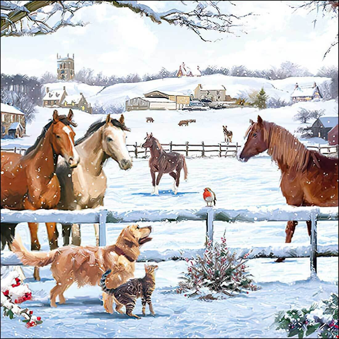 Decoupage Paper Napkins - Animals - Horses Dog Cat - Appointment