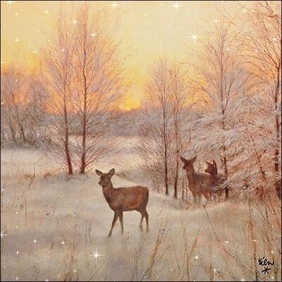 Decoupage Paper Napkins - Animals - Deer At Sunset